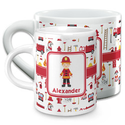 Firefighter Character Espresso Cups (Personalized)