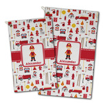 Firefighter Character Golf Towel - Full Print w/ Name or Text
