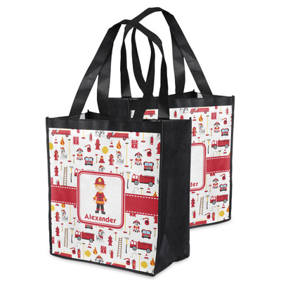 Firefighter Character Grocery Bag w/ Name or Text