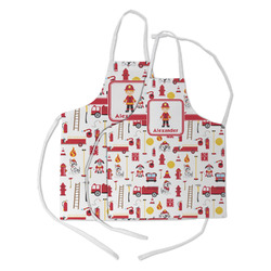 Firefighter Character Kid's Apron w/ Name or Text