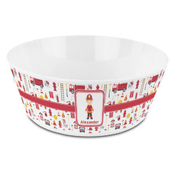 Firefighter Character Kid's Bowl (Personalized)