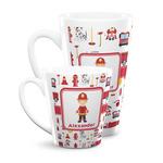 Firefighter Character Latte Mug (Personalized)