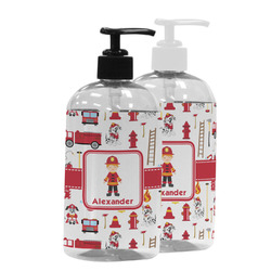 Firefighter Character Plastic Soap / Lotion Dispenser (Personalized)