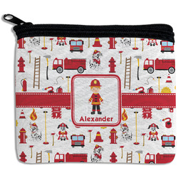 Firefighter Character Rectangular Coin Purse w/ Name or Text