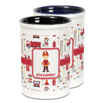 Firefighter Character Ceramic Pencil Holder - Large