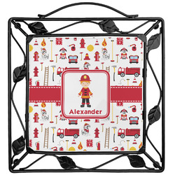 Firefighter Character Trivet (Personalized)