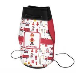 Firefighter Neoprene Drawstring Backpack (Personalized)