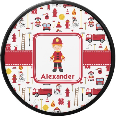 Firefighter for Kids Round Trailer Hitch Cover (Personalized)