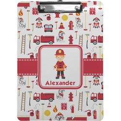 Firefighter Character Clipboard (Personalized)