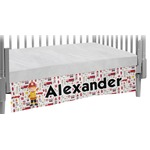 Firefighter Character Crib Skirt w/ Name or Text