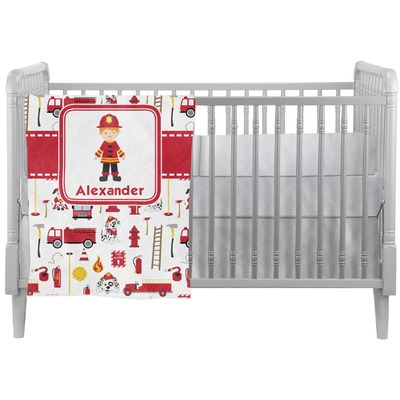 Firefighter Character Crib Comforter / Quilt w/ Name or Text