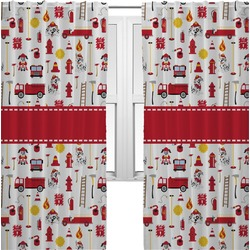 Firefighter Curtains (2 Panels Per Set) (Personalized)