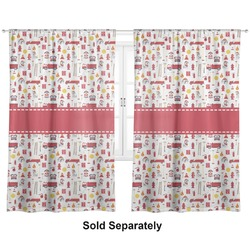 "Firefighter for Kids Curtains - 20""x84"" Panels - Lined (2 Panels Per Set) (Personalized)"