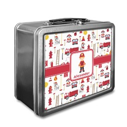 Firefighter Character Lunch Box w/ Name or Text