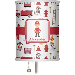 "Firefighter for Kids 7"" Drum Lamp Shade (Personalized)"