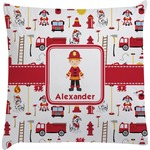 Firefighter Character Decorative Pillow Case w/ Name or Text