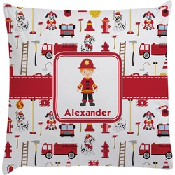 Firefighter for Kids Decorative Pillow Case (Personalized)