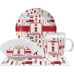 Firefighter Dinner Set - 4 Pc (Personalized)