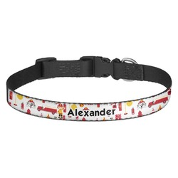 Firefighter for Kids Dog Collar (Personalized)