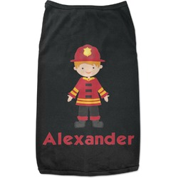 Firefighter for Kids Black Pet Shirt (Personalized)
