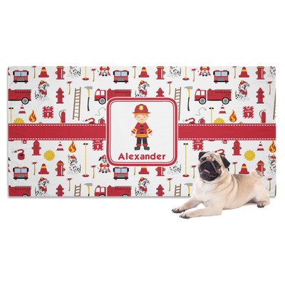 Firefighter Character Dog Towel w/ Name or Text