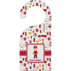 Firefighter Character Door Hanger w/ Name or Text