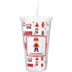 Firefighter for Kids Double Wall Tumbler with Straw (Personalized)