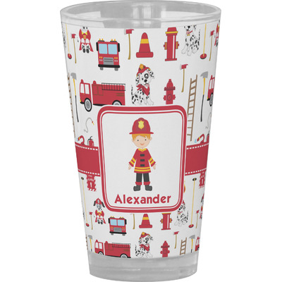 Firefighter Character Drinking / Pint Glass (Personalized)