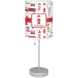 "Firefighter for Kids 7"" Drum Lamp with Shade (Personalized)"