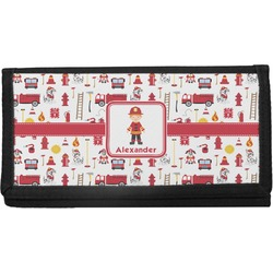Firefighter Character Canvas Checkbook Cover w/ Name or Text