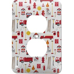 Firefighter Character Electric Outlet Plate (Personalized)