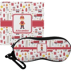 Firefighter for Kids Eyeglass Case & Cloth (Personalized)