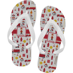 Firefighter for Kids Flip Flops - XSmall (Personalized)