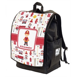 Firefighter for Kids Backpack w/ Front Flap  (Personalized)