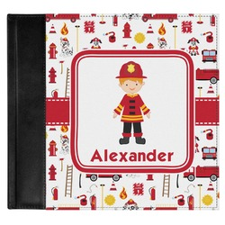 Firefighter for Kids Genuine Leather Baby Memory Book (Personalized)