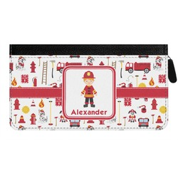 Firefighter for Kids Genuine Leather Ladies Zippered Wallet (Personalized)
