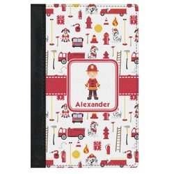 Firefighter for Kids Genuine Leather Passport Cover (Personalized)
