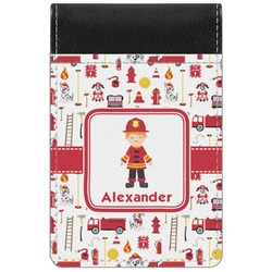 Firefighter for Kids Genuine Leather Small Memo Pad (Personalized)