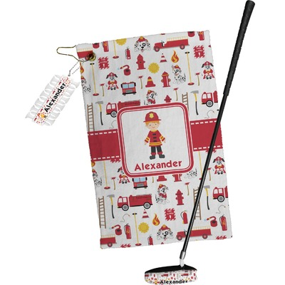 Firefighter Character Golf Towel Gift Set w/ Name or Text