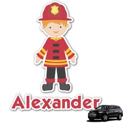 Firefighter for Kids Graphic Car Decal (Personalized)