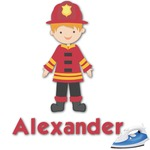 Firefighter Character Graphic Iron On Transfer (Personalized)