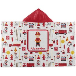 Firefighter for Kids Kids Hooded Towel (Personalized)