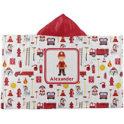 Firefighter Character Kids Hooded Towel (Personalized)