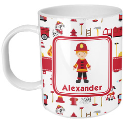 Firefighter Character Plastic Kids Mug (Personalized)