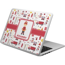 Firefighter Character Laptop Skin - Custom Sized w/ Name or Text