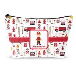 """Firefighter for Kids Makeup Bag - Small - 8.5""""x4.5"""" (Personalized)"""