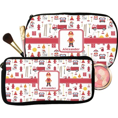 Firefighter Character Makeup / Cosmetic Bag (Personalized)