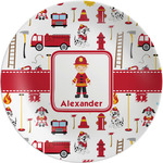 Firefighter Character Melamine Plate (Personalized)