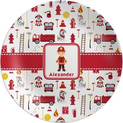 "Firefighter for Kids Melamine Plate - 10"" (Personalized)"