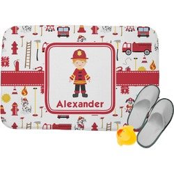 Firefighter Memory Foam Bath Mat (Personalized)